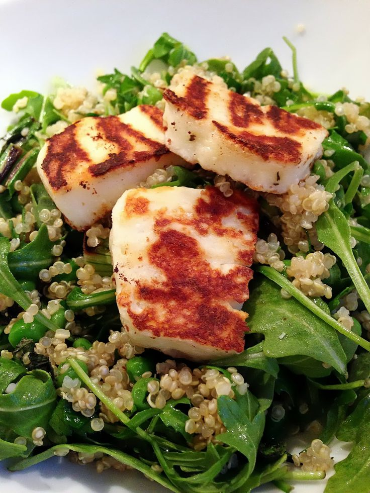Quick Quinoa & Halloumi Salad | Salads | Pinterest