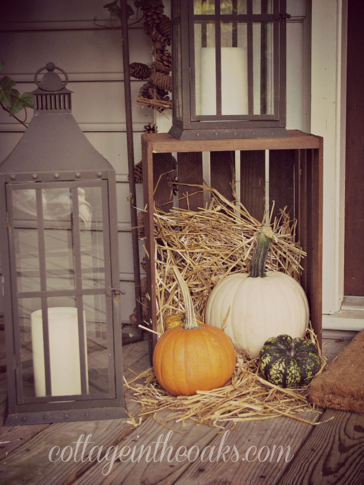 Fall Front Porch Ideas A Primitive Autumn Pinterest