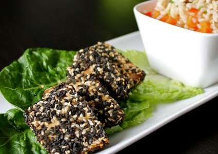 Sesame Orange Crusted Tofu | Wholesome Foods | Pinterest