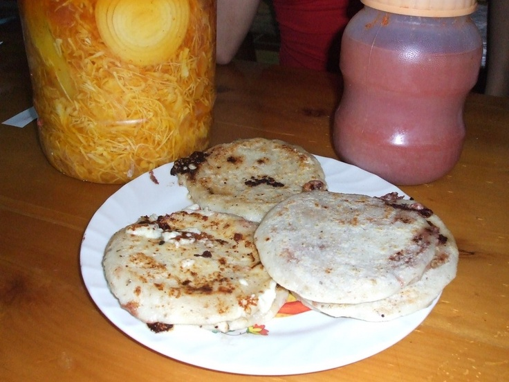 con curtido masa cakes with cabbage slaw pupusas pupusas queso and ...