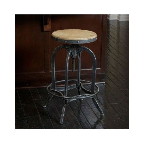 Barstool Adjustable Bar Stools Swivel Kitchen Counter Height Chairs F