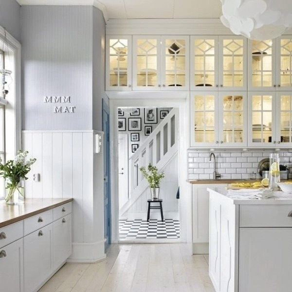 Glass Kitchen Cabinets Beach House Pinterest