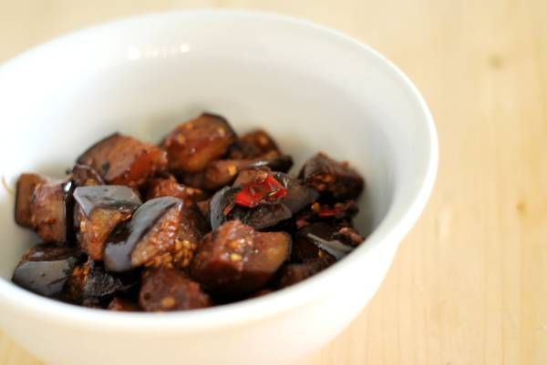 Stir Fried Japanese Eggplant With Ginger And Miso Recipe — Dishmaps