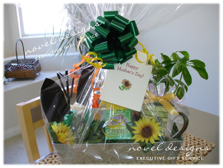 Pin by novel designs executive gift service on seasonal for Gardening tools gift basket