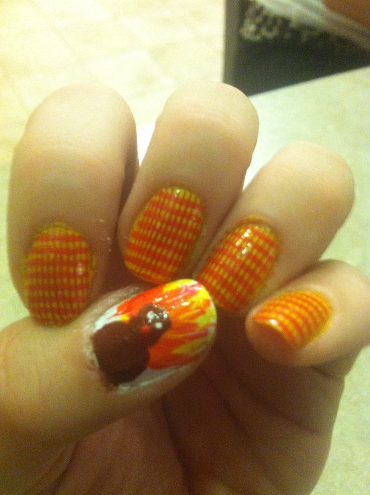 Thanksgiving nails | nail art. | Pinterest