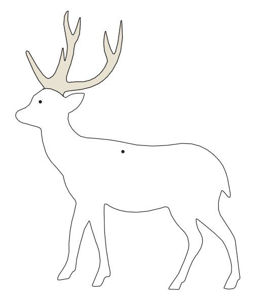 Templates reindeer search results calendar 2015 for Reindeer cut out template