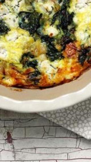 Crustless Leek and Kale Quiche | Food | Pinterest