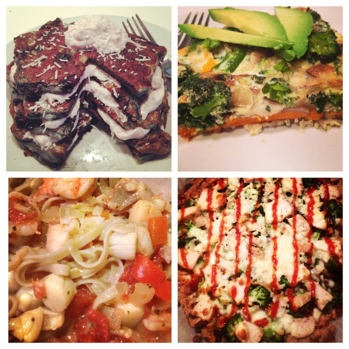 ... frittata, seafood pasta and blueberry coconut pancakes all gluten free