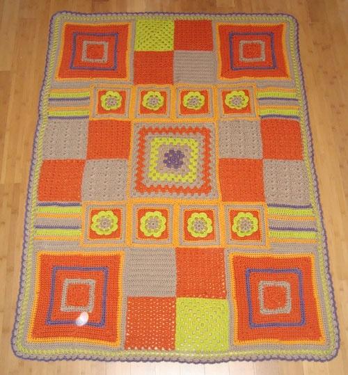 Bernat Mystery Afghan Complete Knitting Crocheting Pinterest