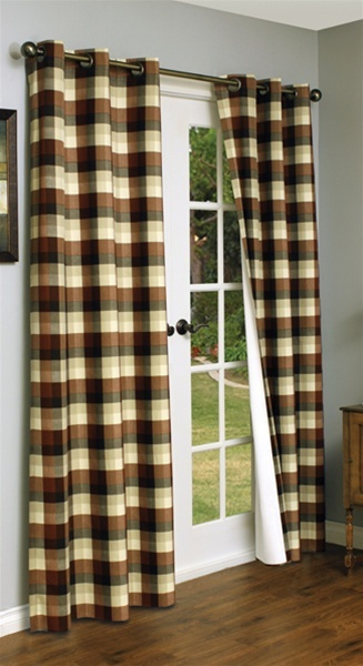 Plaid curtains! | For the home