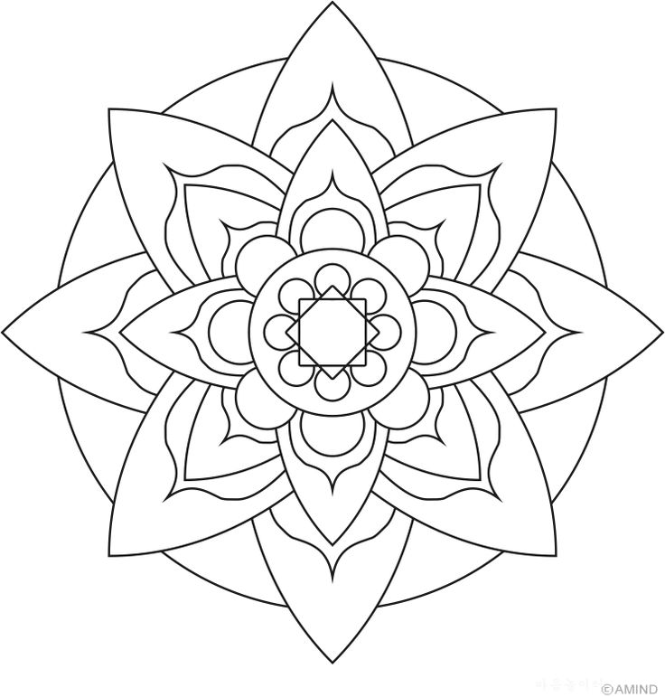 Mandalas Meditation Coloring Images Meditative Coloring Pages