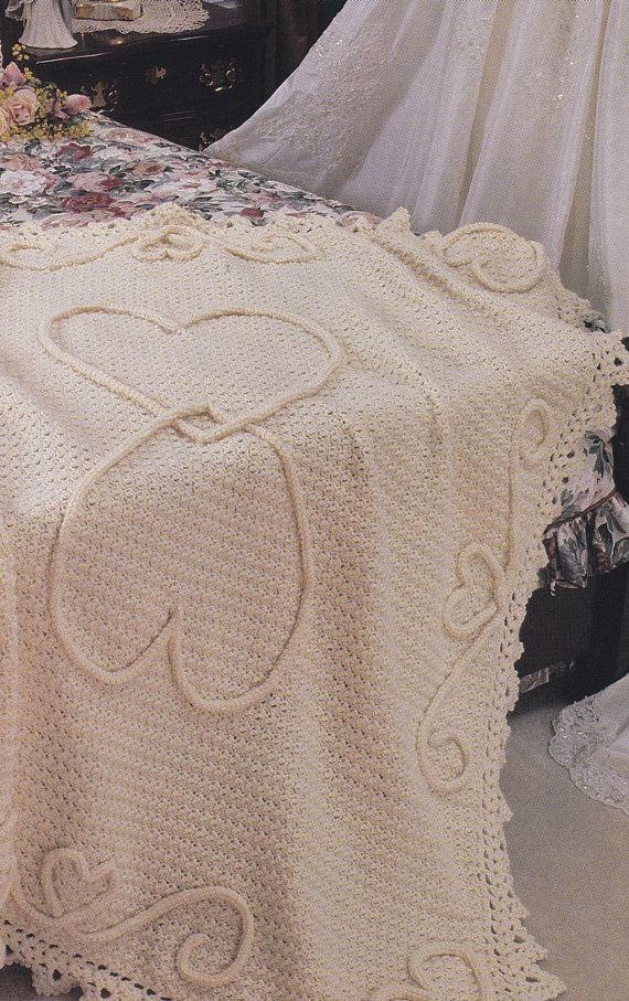 Free Crochet Pattern Wedding Afghan : Wedding Crochet Patterns - Keepsakes, Garter, Afghan ...