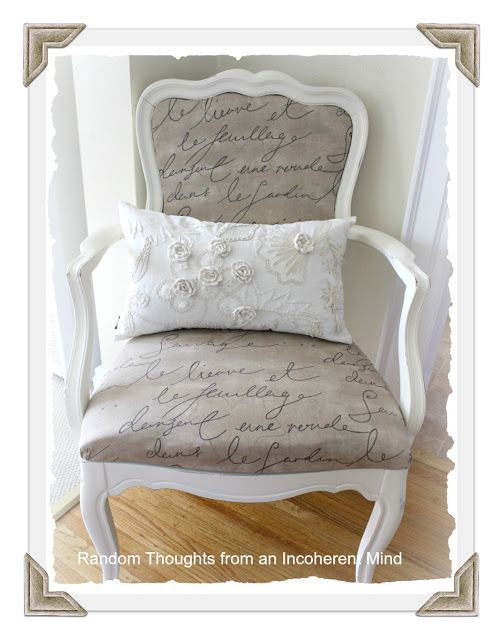 Scripted Chair Reupholstery DIY