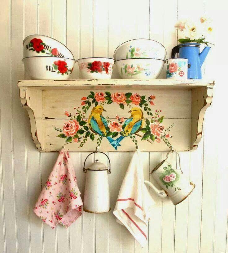 De casi todo un poco mas muebles vintage pintados for Decoracion vintage manualidades