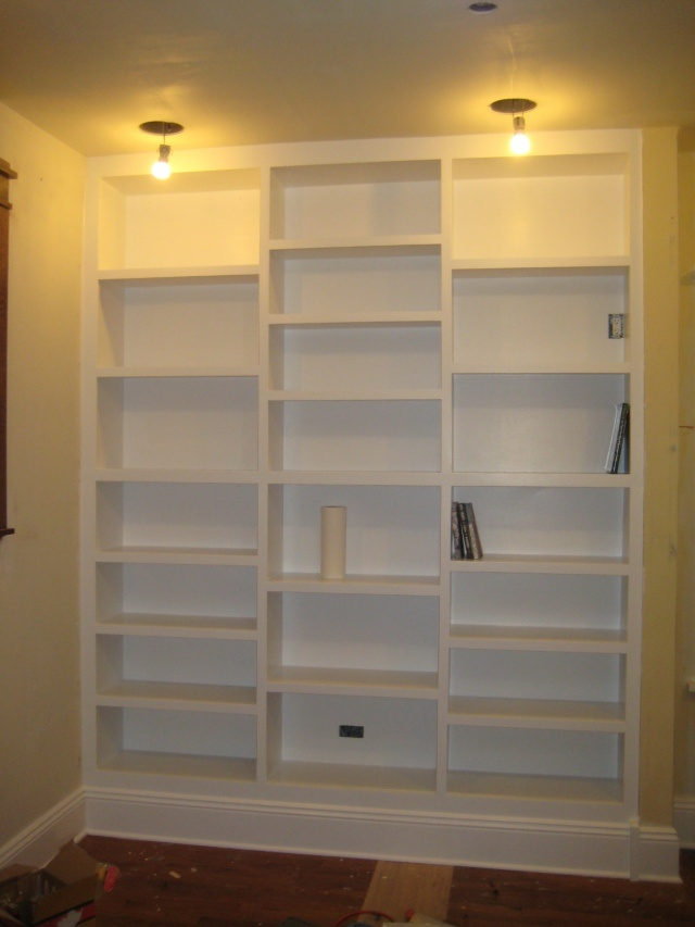 diy built in bookcases living room dining room makeover
