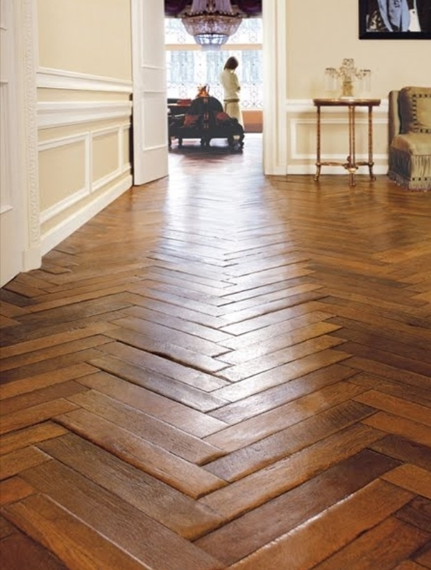 Hardwood floors chevron home pinterest Chevron wood floor