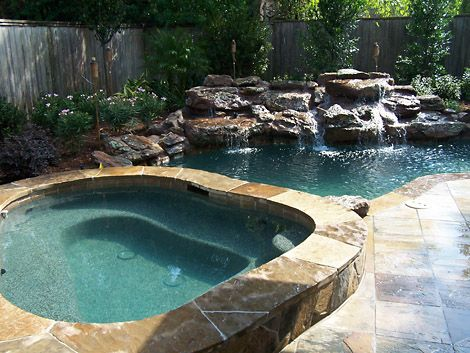 Cool outdoor backyard in ground pool swimming pools pinterest - Cool backyard swimming pools ...