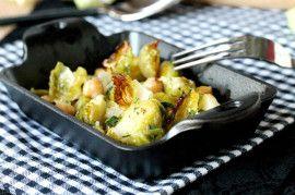 Crispy Lemon Roasted Brussels Sprouts | Recipe