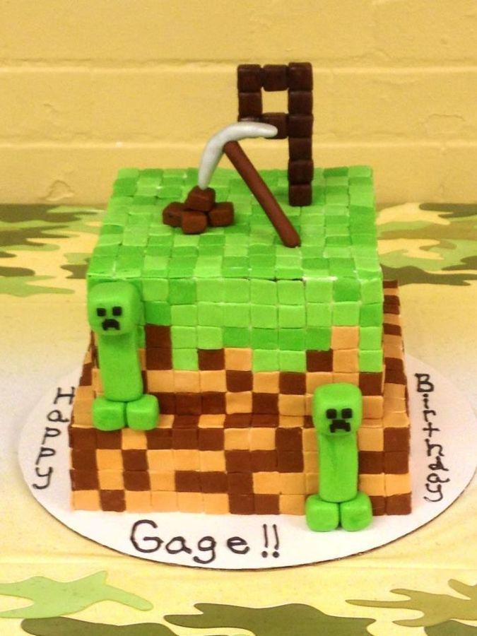 Minecraft Cake Ideas Pinterest