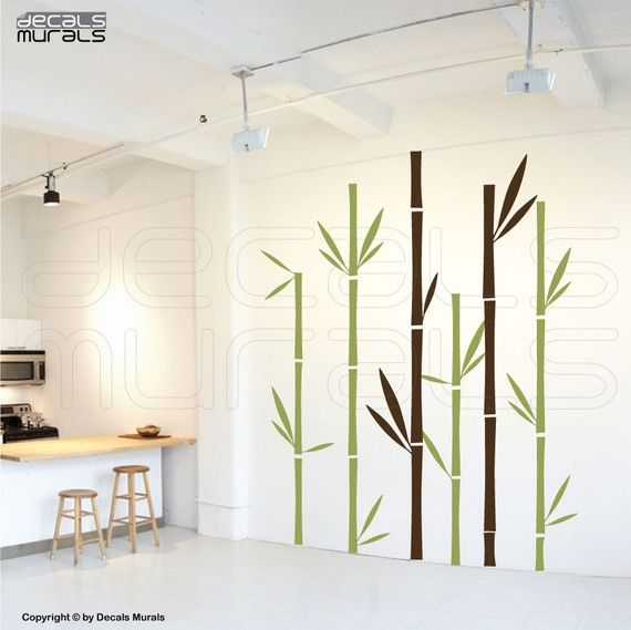 Wall decals GEOMETRIC BAMBOO Wall stickers Vinyl by decalsmurals, $127 ...
