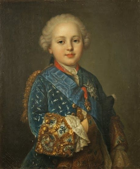 """Portrait of Prince Louis Auguste of France, Duc de Berry (1754-1793), future King Louis XVI of France and Navarre"" by Jean-Martial Frédou (1760)"