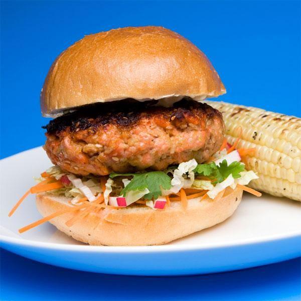 Sesame Salmon Burgers with Rudi's GF Bun