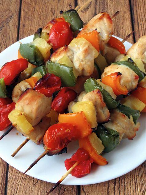Chicken Pineapple Kebabs | Food | Pinterest