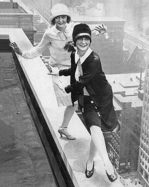 Flappers Dancing the Charleston atop the Sherman Hotel, Chicago, December 11, 1926
