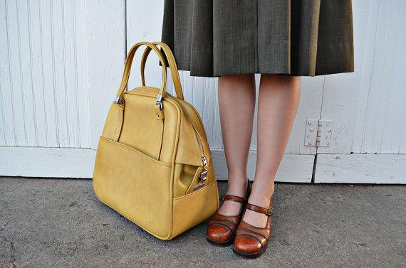 Vintage Mustard Tote Bag by MayDae on Etsy, $48.50
