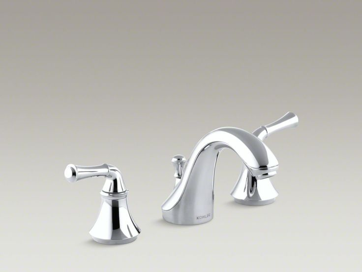 kohler forte widespread faucet with traditional lever handles