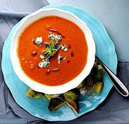 Spicy Blue Cheese and Tomato Soup.. gotta find a way to make it ...