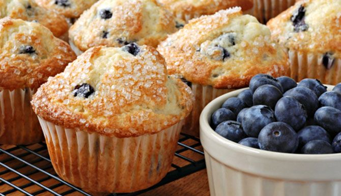Blueberry Sour Cream Muffins | Smoker/Grilling | Pinterest