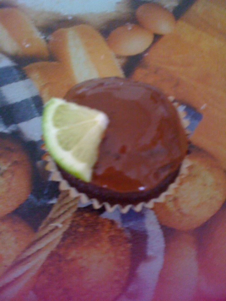 Rum and coke cupcake, complete with lime | Cupcakes | Pinterest