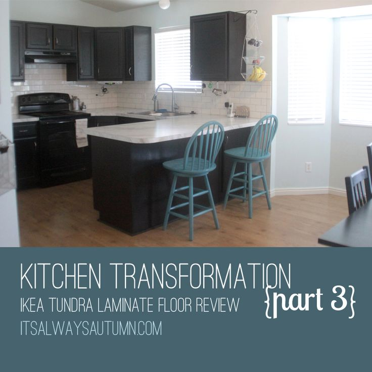 Ikea Kitchen Flooring Kitchen Transformation On A Budget Reviews Of IKEA Laminate Flooring