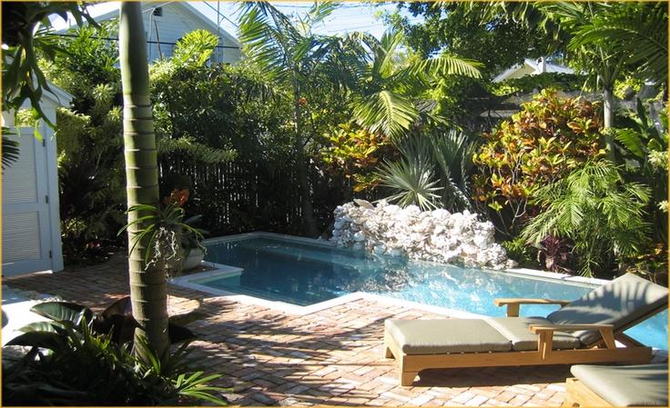 Key West Style Backyards : Blair Gordon Design Key West  Courtyard Pools  Pinterest