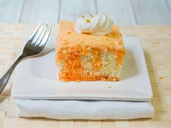 Orange cream poke cake | Food and Recipes | Pinterest