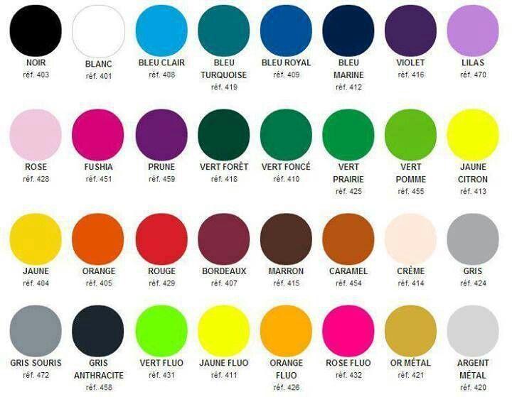 Colours in french french language tips pinterest - Couleur allant avec le vert ...