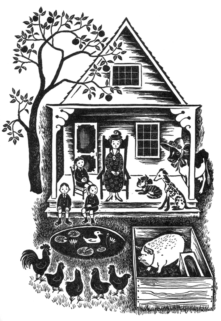 """By Barbara Cooney from the 1949 book, """"Read Me Another Story."""""""