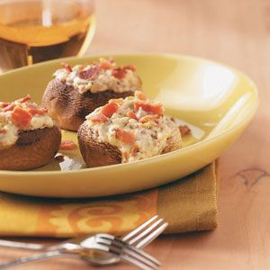 ... it is. A rich, warm and cheesy recipe for classic stuffed mushrooms