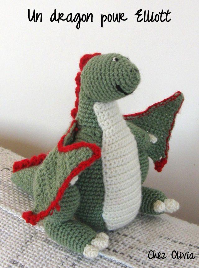 amigurumi dragon Amigurumis Pinterest