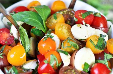 Quick Caprese Salad | On the side (side dishes) | Pinterest