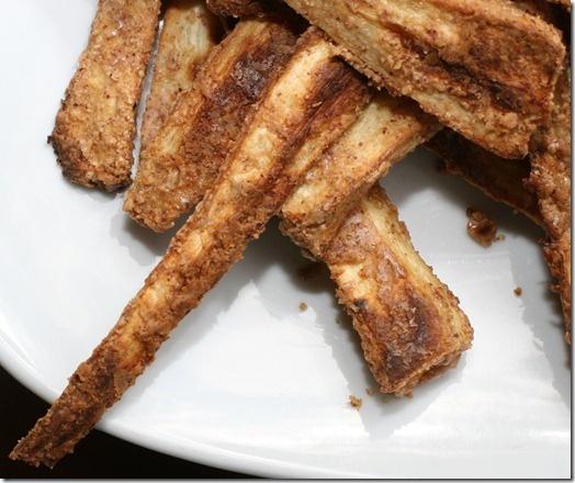 Nut Butter Crusted Parsnip Fries | Vegetables | Pinterest