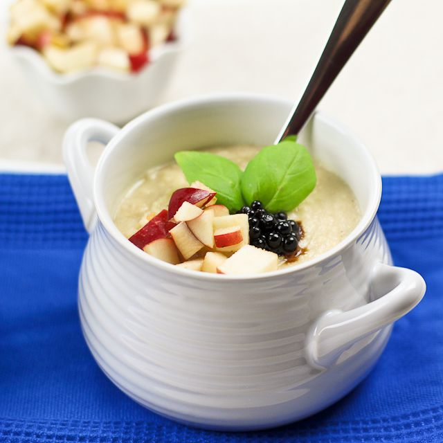 Cream of Cauliflower with Roasted Garlic & Apple- leave out garlic and ...