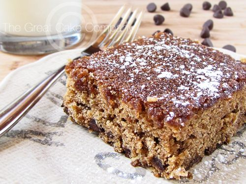 ... snacking cake. Oatmeal Chocolate Chip Cake via The Great Cake Company