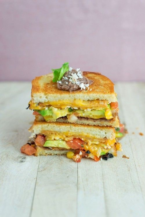 Mexican grilled cheese | Hungry Like The Wolf | Pinterest