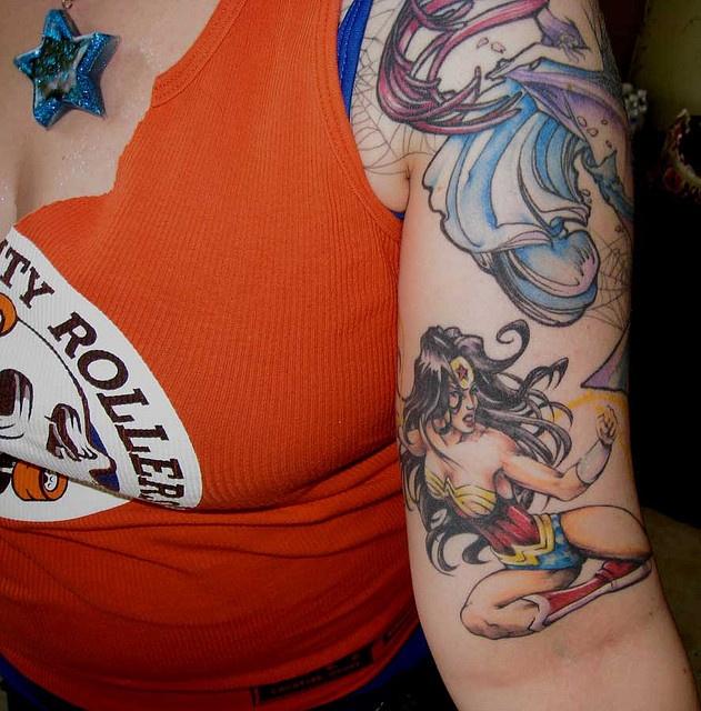 wonder woman tattoo drop of ink metal pinterest. Black Bedroom Furniture Sets. Home Design Ideas