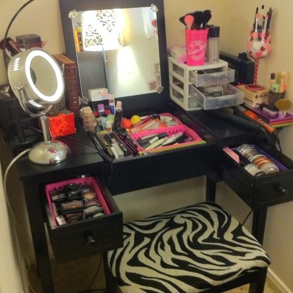 Makeup Vanity Organization Kiss Makeup Pinterest