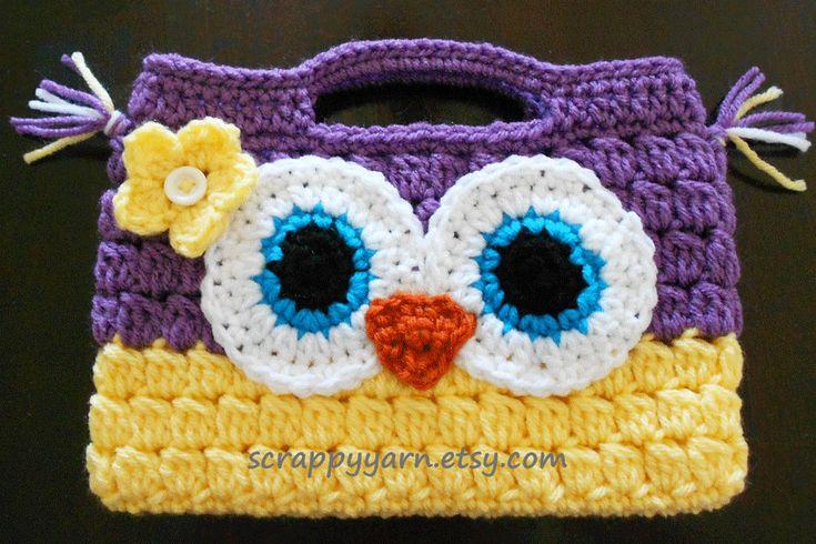 Crochet Owl Bag Pattern Free : Free Crochet