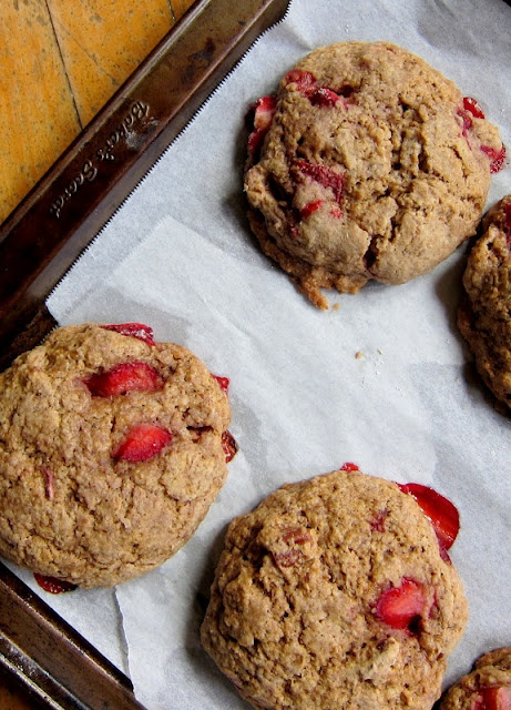 Whole Wheat Strawberry Pecan Scones Breakfast or snack!