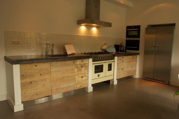 Keuken Steigerhout Beton : Keuken met steigerhout en werkblad van beton